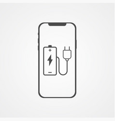charging phone icon sign symbol vector image