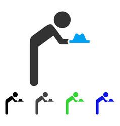 Child servant flat icon vector