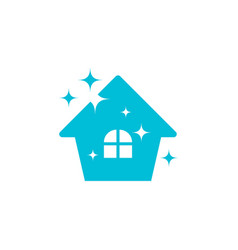 clean house logo icon design template vector image