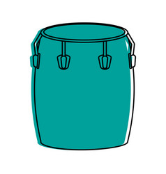 Conga drum musical instrument icon image vector