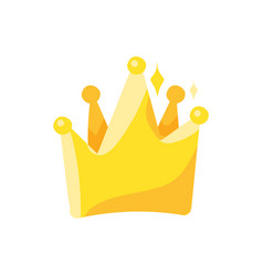 crown flat color vector image