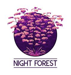 dark mystic violet forest logo vector image