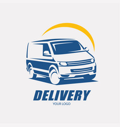 delivery and shipping service logo template vector image