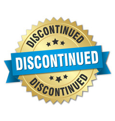discontinued round isolated gold badge vector image