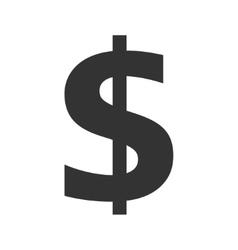 Dollar Symbol Icon on white background vector