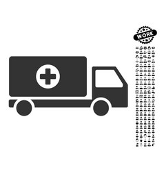 Drugs shipment icon with work bonus vector