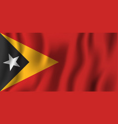 east timor realistic waving flag national vector image