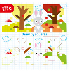 Educational game for kids to develop color vector