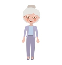 elderly woman with pants an jacket vector image