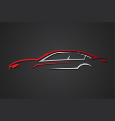 Elegant car sport emblems vector
