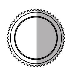 Emblem round banner shadow vector