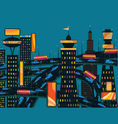 evening metropolis vector image