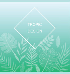 exotic leaves design vector image