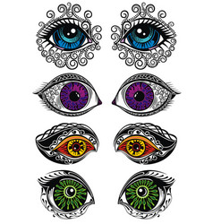 eyes symbols vector image