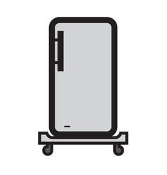 Flat color refrigerator icon vector