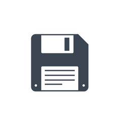 Floppy disk line related glyph icon vector