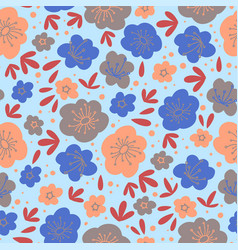 floral backdrop flower textile print illust vector image