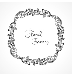 Floral frame graphic elements vector image