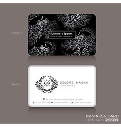 Floral Vintage Elegant Business cards Design vector image