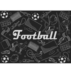 Football chalk vector
