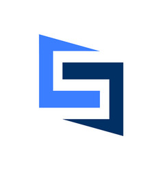 Geometric letter s initial logo vector