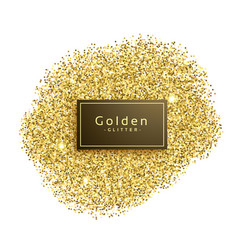 Gold glitter sparkles on white background vector