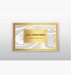 Golden business card vector