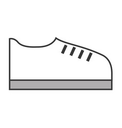 Grey shoe cartoon vector