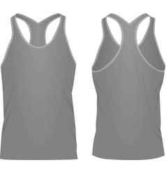 Grey sleeveless t shirt vector