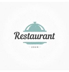 Hand Drawn Restaurant Cloche Design Element vector