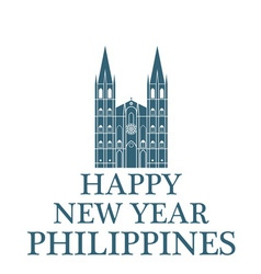 Happy New Year Philippines vector image