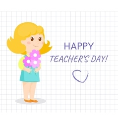 Happy teacher day card vector image