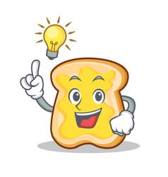 Have an idea slice bread cartoon character vector