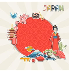 Japan background design vector