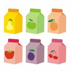 Juice carton boxes vector