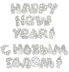 lettering design of happy new year greetings with vector image
