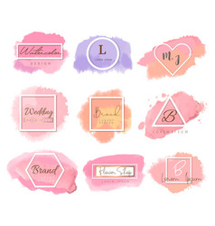logo watercolor background bannerfor vector image