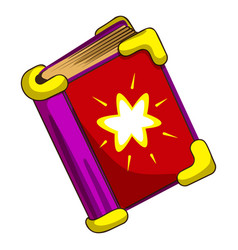 magic book icon cartoon style vector image