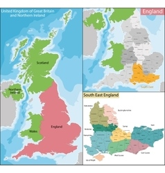 Map south east england vector