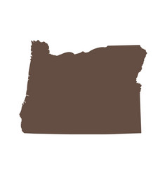 map us state oregon vector image