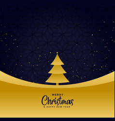 minimal golden merry christmas greeting background vector image
