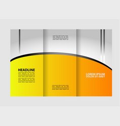 modern tri-fold template for advertising concept b vector image