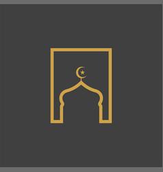 Mosque background vector