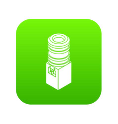 office water cooler icon green vector image