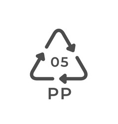 plastic recycle glyph package icon vector image