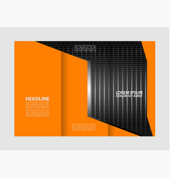 professional business three fold flyer template c vector image
