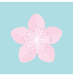 Sakura flower icon Japan blooming cherry blossom vector