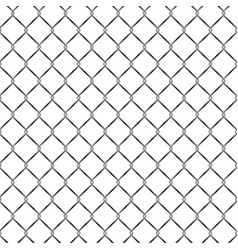 seamless metal grid fence pattern design vector image
