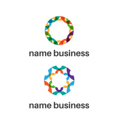 set abstract icon logo template vector image