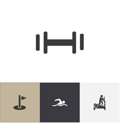 Set of 4 editable fitness icons includes symbols vector
